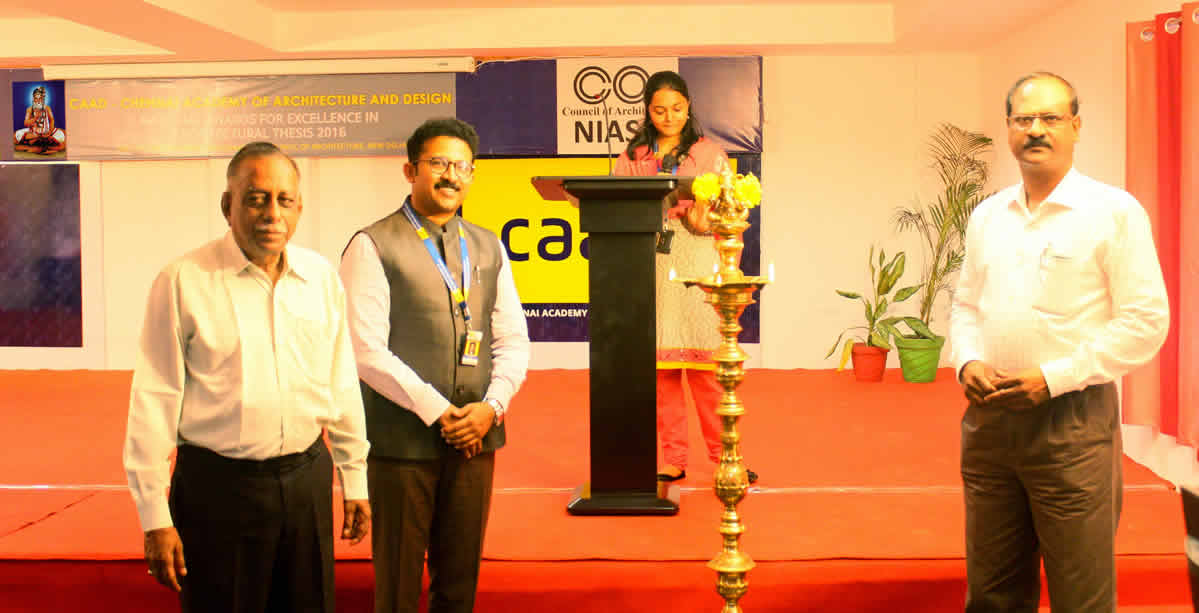 National Awards For Excellence In Architectural Thesis 2016, Zone IV Jury Was Hosted By CAAD On Behalf Of NIASA-COA
